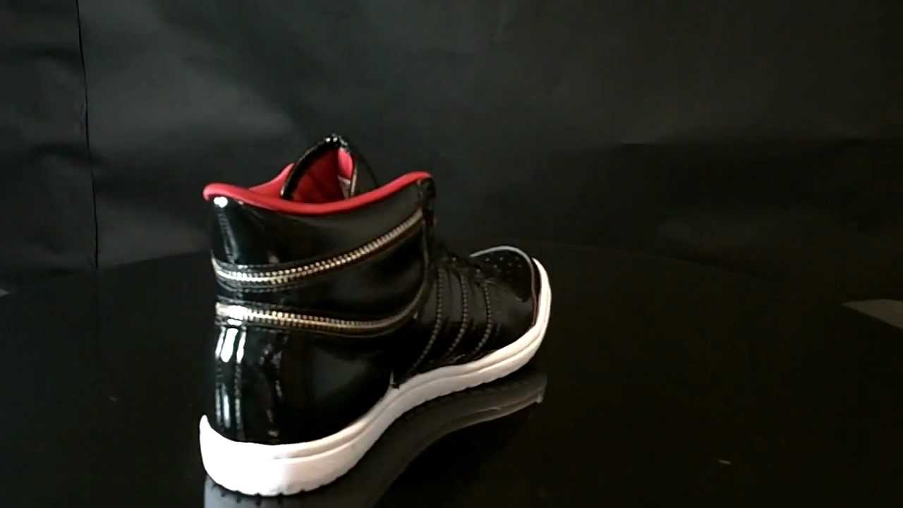 donante vanidad Extracto  Adidas Top Ten Hi Sleek W Black1 Black G63110 - YouTube