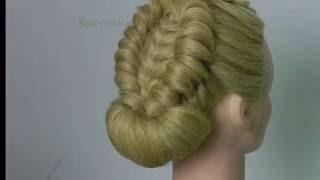 Видео о том,как просто делать из волос прическу с плетением.