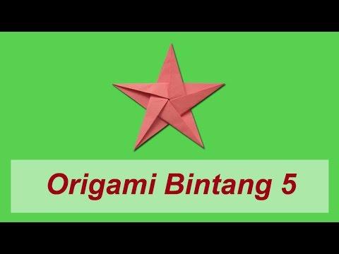 Cara Membuat Origami Bintang 5 (Non-Moduler)