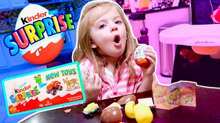 FIRST KINDER SURPRISE EGGS! NEW TOY CHANNEL?!?
