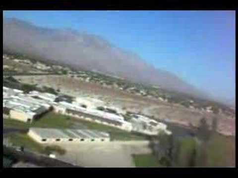 Slow Stick air travel video in morning hours at Palm Springs