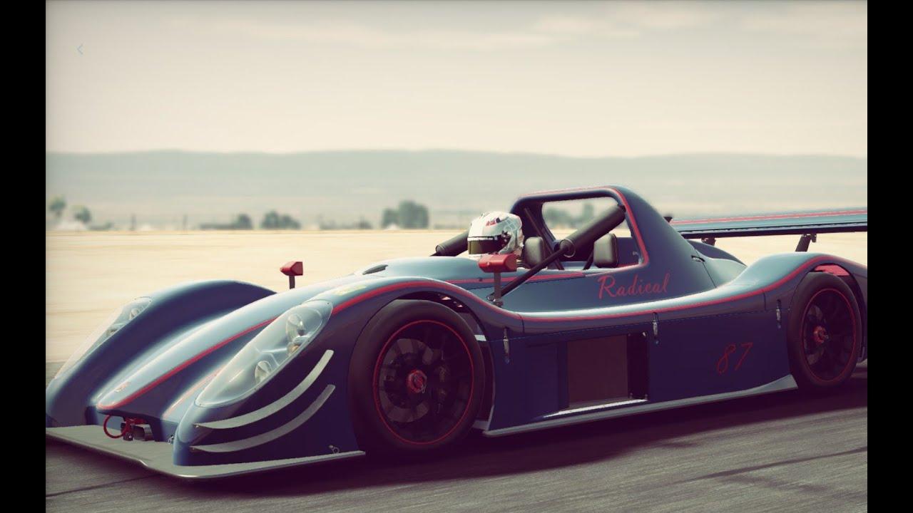 Hotlap on Donington GP Radical SR8 RX + Setup