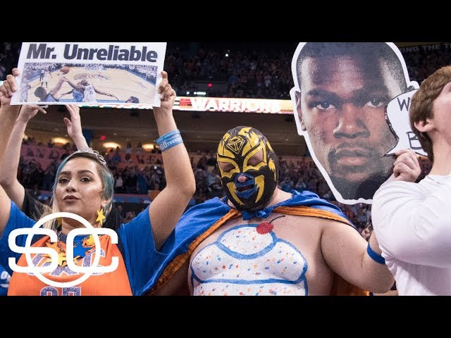 Different mood in OKC for Kevin Durant's second return with the Warriors | SportsCenter | ESPN
