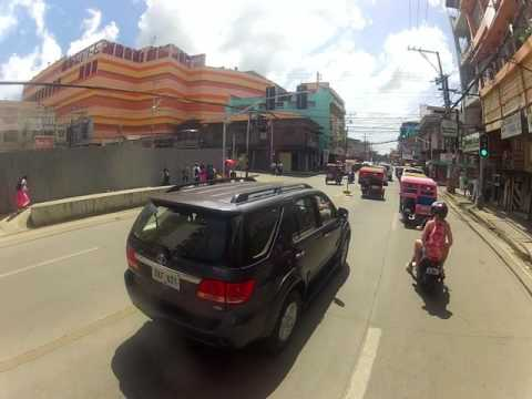 Driving in Bohol Island, Tagbilaran city