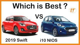 2019 Hyundai Grand i10 NIOS VS Maruti Suzuki Swift Full Comparision l IndianTorque