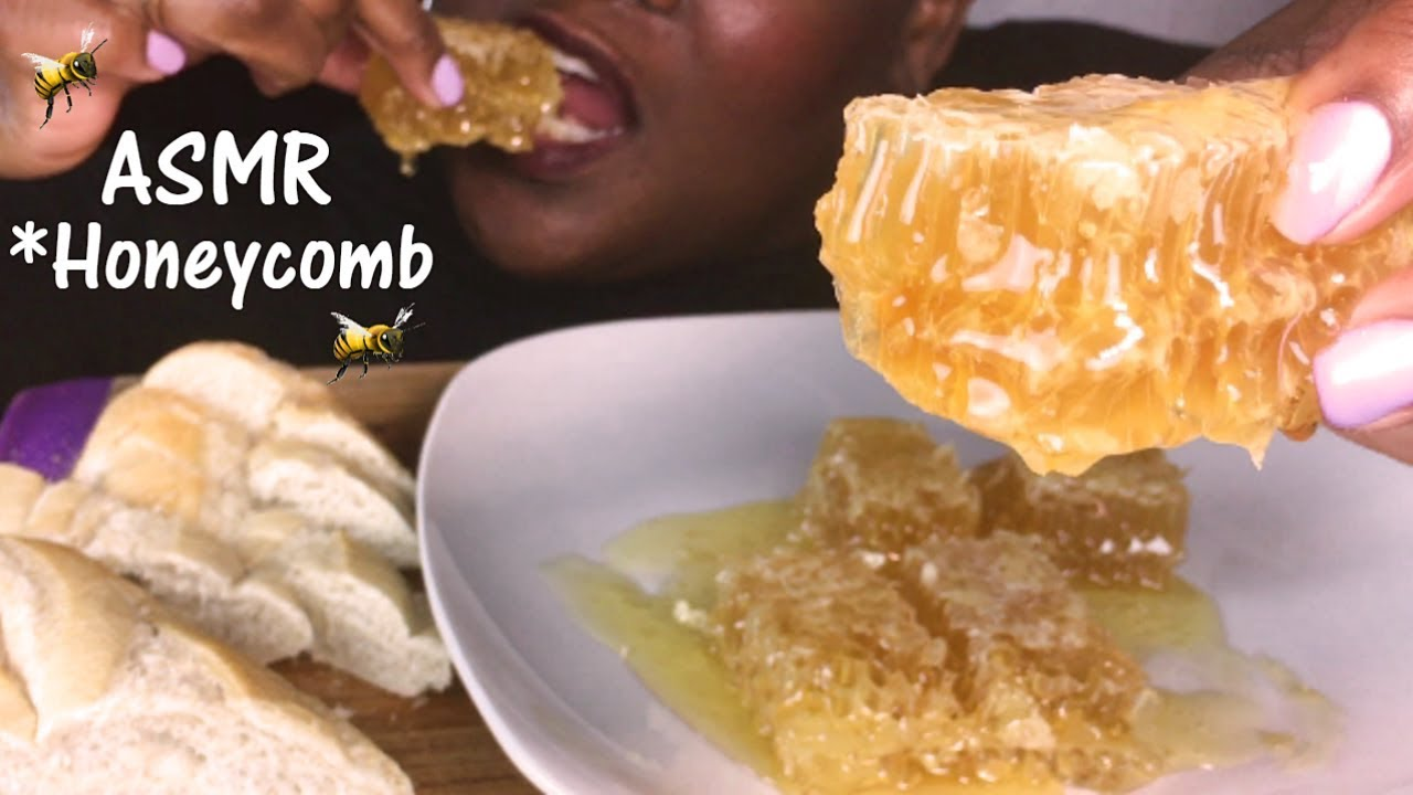 Asmr Raw Honeycomb Extreme Sticky Eating Sounds No Talking 2