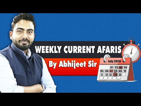 Weekly Current Affairs 2020 | Current Affairs Revision by Abhijeet Sir | Guidely