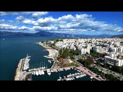 Timelapse and Aerial shot at Patras Marina , Greece
