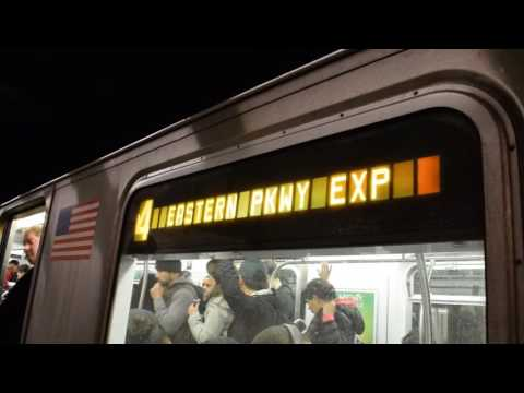 NYMTA Subway- IRT Lexington Ave Line PM Rush Hour Action in 86th Street