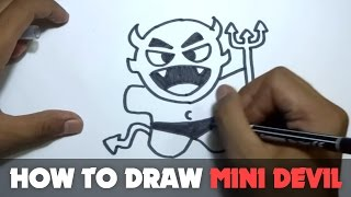 How to Draw a Cartoon - Mini Devil (Tutorial Step by Step)