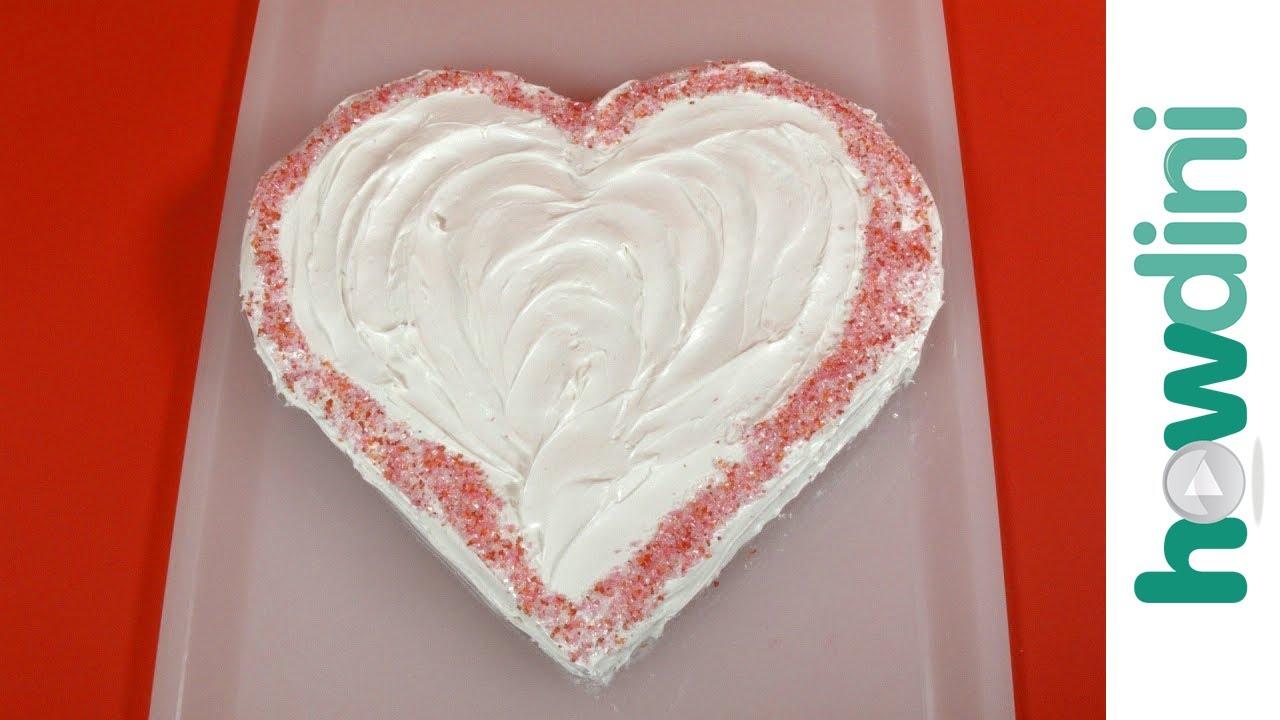 how to serve a heart shaped cake