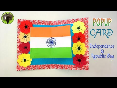 TRI COLOUR INDIA FLAG PoPuP CARD (2) for \