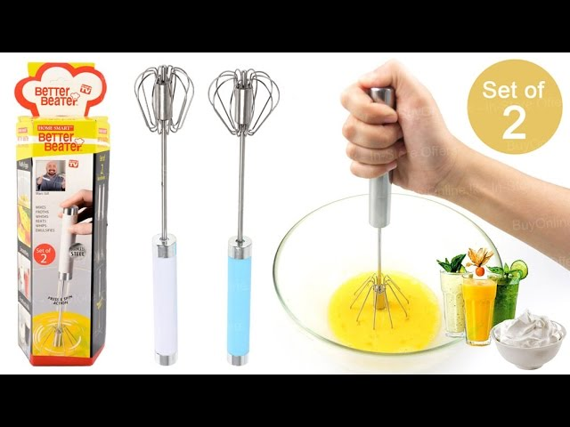 Easy Whisk Semi Automatic Stainless Whisks Hand Push Egg Beater Whip Milk Mixer
