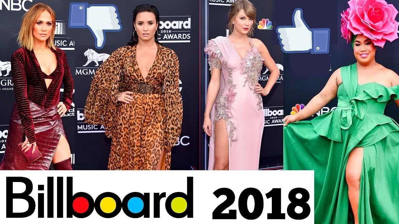 6b4c8899ab Alfombra Roja Billboard 2018 Los mejores y peores Vestidos - YouTube