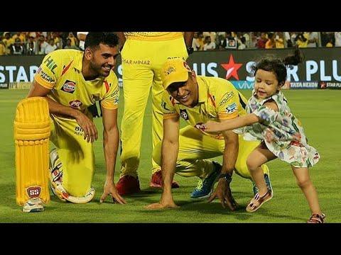 धोनी और जीवा का यह विडियो देख रो पड़ेंगे आप | MS Dhoni Playing with Ziva after Victory against Kings thumbnail