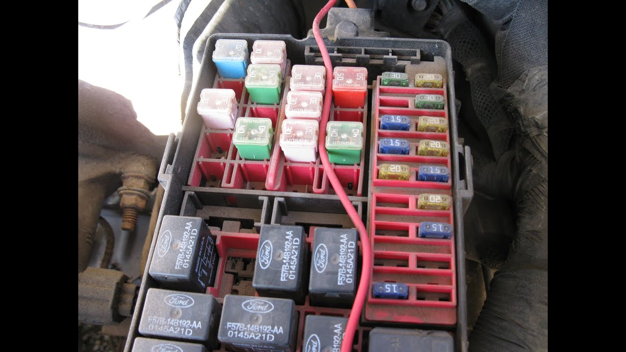 maxresdefault fuse box locations on a 1997 2003 ford f150 youtube fuse panel 1997 e350 at panicattacktreatment.co