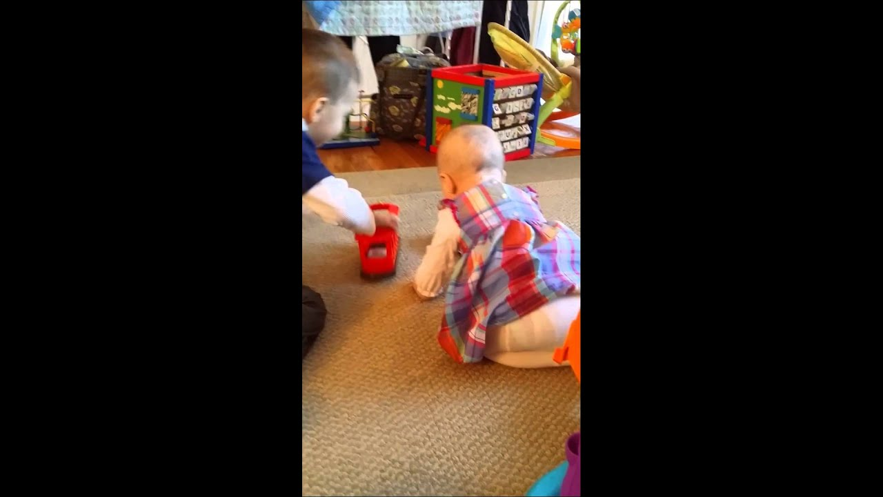 Toys For Sisters : Brother and sister share toys youtube