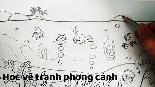 Vẽ Tranh Phong Cảnh chủ đề Đại Dương - How to draw Landscapes