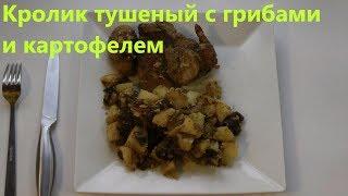 Кролик тушеный с грибами и картофелем
