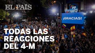 RESULTADOS #4M | AYUSO arrasa en MADRID: todas las REACCIONES