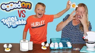 Toilet Trouble VS Egged On Challenge || Family Fun Pack Game Night Parent Edition thumbnail