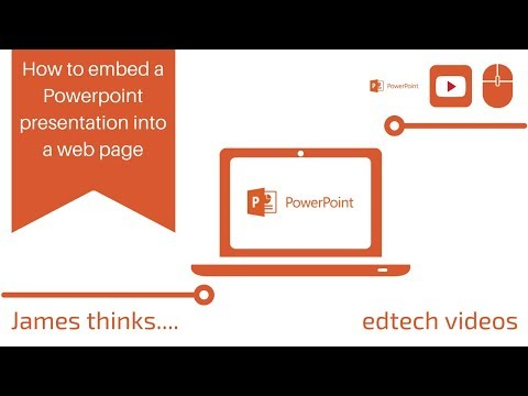 How To Embed A Powerpoint Presentation Into A Web Page