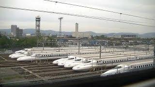 東海道新幹線 車窓 JR東海N700A系 のぞみ218号東京行き 新大阪⇒京都 進行方向左側