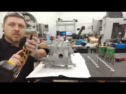 VW 1.8t 20v engine build, cleaning and lapping valves.