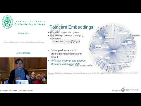 [Conférence] A. BORDES - Teaching Machines to Understand Natural Language