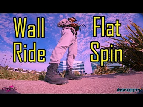 ~ THE WALL RIDE FLAT SPIN - PolarProND! ~ InspireFPV