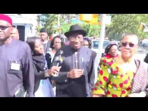 Adeola Fayehun Internviews President Goodluck Jonathan On The Streets Of New York