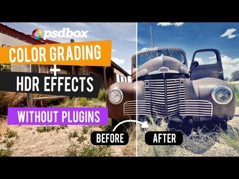 Color Grading + HDR without plugins - Tutorial demo