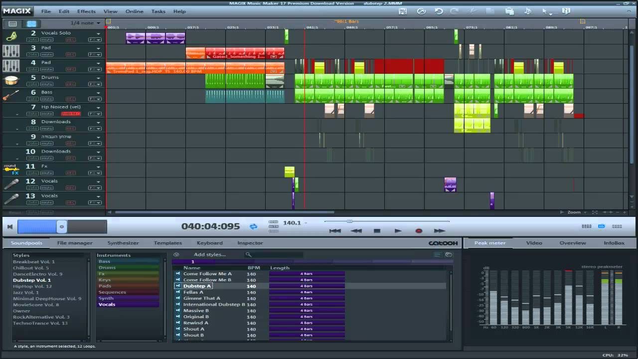 Magix Music Maker 17 Dubstep Test Youtube