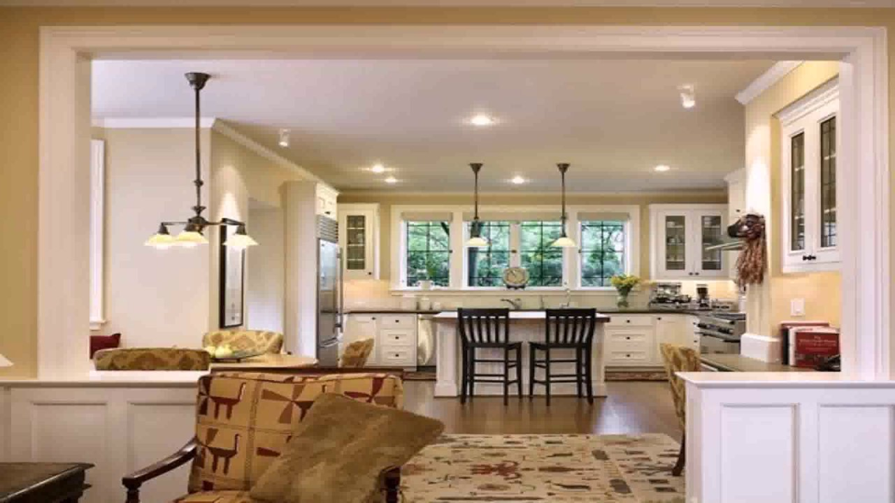 Open floor plan ideas for small spaces youtube for Open plan kitchen ideas for small spaces