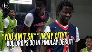 Bol Bol CRAZY FINDLAY PREP DEBUT! 30 Points W/ Busted Finger! Like Mike Highlights v Morgan Park!
