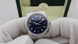 Обзор часов Ролекс реф 114200 синий циферблат, оригинальные часы 34 мм!