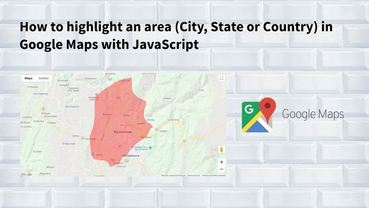 How to highlight an area (City, State or Country) in Google Maps