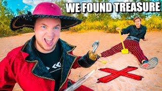 24 Hour Pirate Sнip Challenge! WE FOUND BURIED TREASURE!