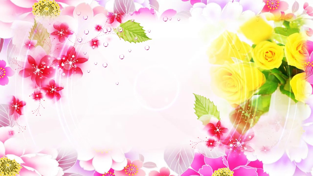 Hd Free Wedding Flower Background Video Background Youtube