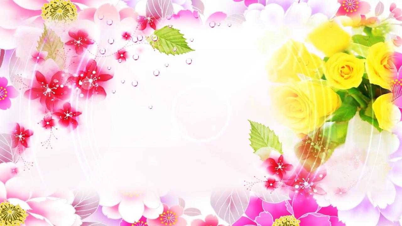 HD Free Wedding Flower Background, Video Background