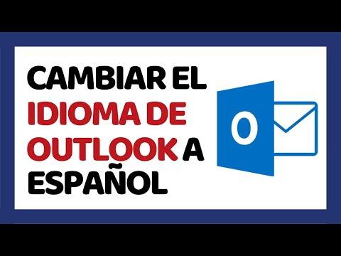 🔴 Cómo Cambiar el Idioma de Outlook de Inglés a Español 2021 (Hotmail)