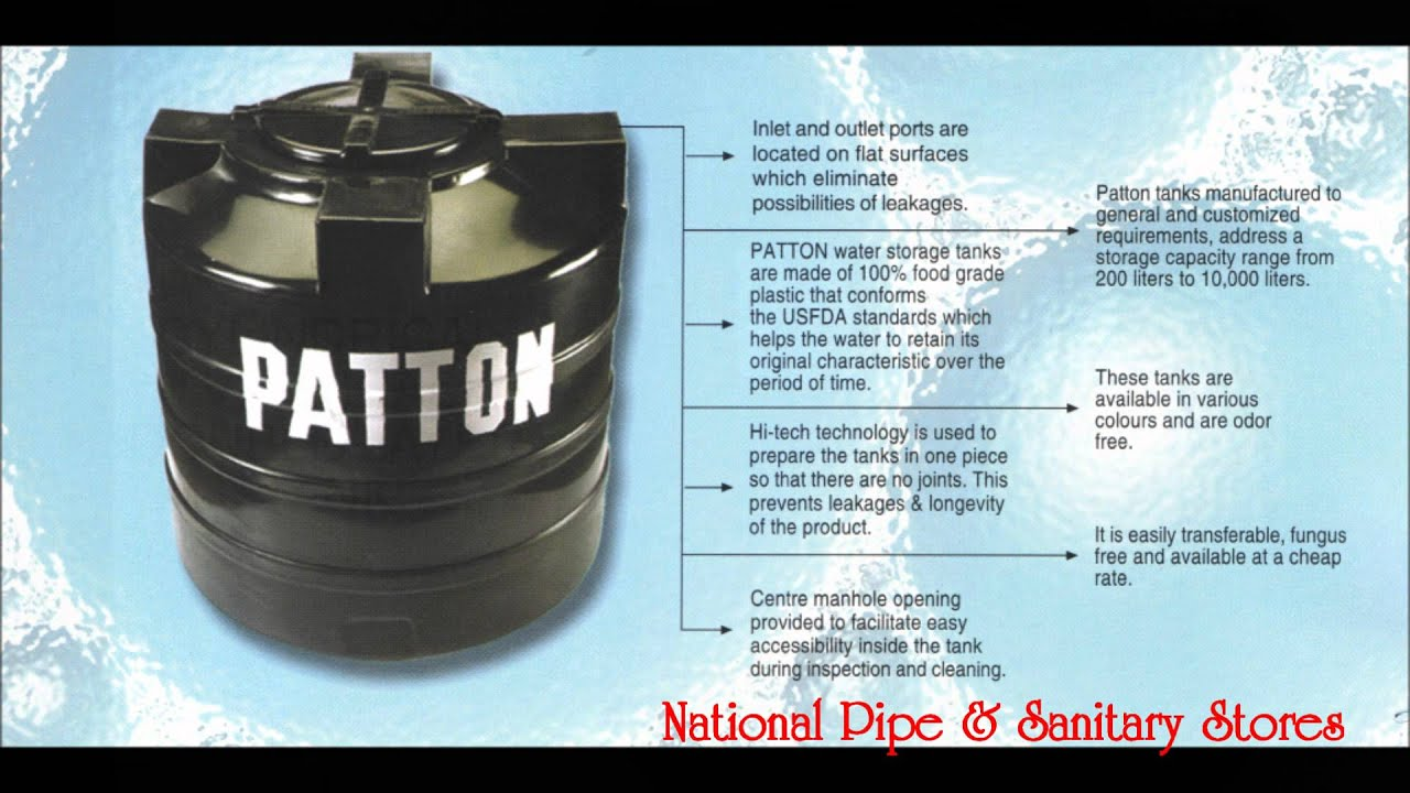 Quot Patton Quot Pvc Water Storage Tank Presentation By National