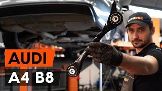 Kuinka vaihtaa takaalatukivarsi AUDI A4 B8 Sedan -merkkiseen autoon [AUTODOC -OHJEVIDEO]