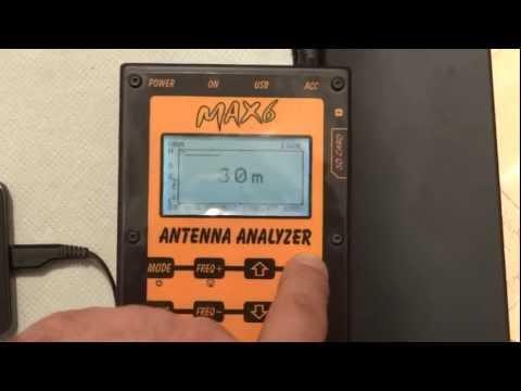 Antenna Analyzer - MAX6 - BlueTooth - version 8 button - Program V2