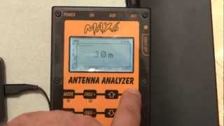 Antenna Analyzer - MAX6 - BlueTooth - version 8 button - Program V2