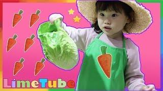 농사의 달인! 라임이의 무한도전 농사짓기 어린이 키즈카페 장난감 놀이 LimeTube & Toy 라임튜브