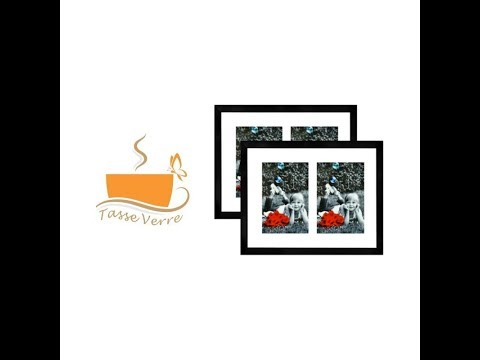 Tasse Verre 11x14 Collage Picture Frame - Two 5x7 Cutouts In Mat - 2pack (Black)