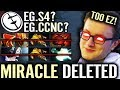 Watch 200IQ Miracle Delete EG Squad S4 CCNC Super Ez Pro Crazy Gameplay Dota 2 Miracle-