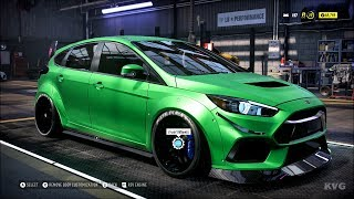 Need for Speed Heat - Ford Focus RS 2016 - Customize | Tuning Car (PC HD) [1080p60FPS]