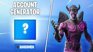 I use an ACCOUNT GENERATOR in Fortnite and got this SKINS!